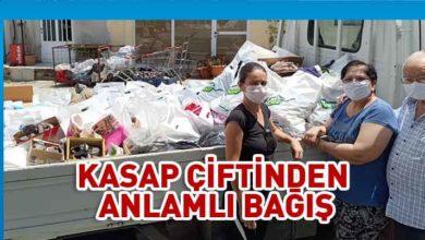 Photo of Kanser Hastalarına Yardım Derneği, Kasap çiftine bağış için teşekkür etti