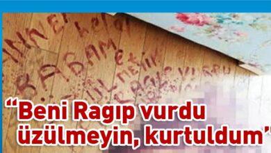 Photo of Eşi tarafından vurulan kadın, kanıyla yere not bıraktı