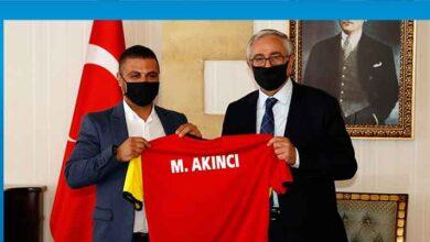 Photo of Cumhurbaşkanı Akıncı Çetinkaya Türk Spor Klübü'nü kabul etti