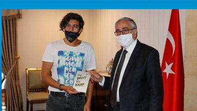 Photo of Akıncı lise öğrencisi Besimler'i kabul etti