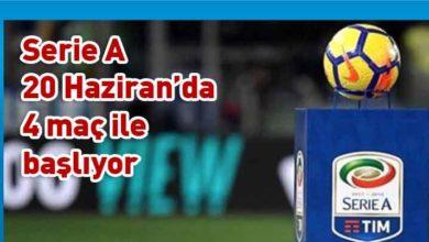 Photo of İtalya Serie A'da futbol maç programı belli oldu