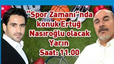 """Photo of Ertuğ Nasıroğlu """"Spor Zamanı""""nda"""