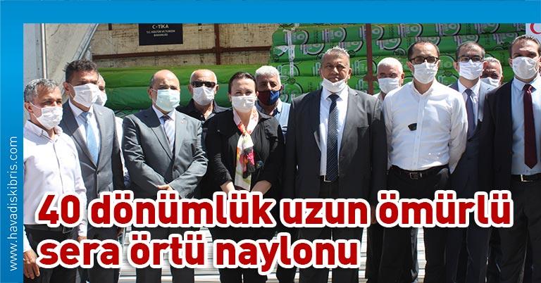 Türk İşbirliği Koordinasyon Ajansı (TİKA) Lefkoşa Program Ofisi, Türkiye'nin Lefkoşa Büyükelçisi Ali Murat Başçeri'nin yönlendirmesiyle koronavirüs sonrası dönemde üreticileri destekleme kapsamında Gazimağusa'daki sera üreticilerine sera örtü naylonu desteğinde bulundu