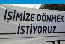 Photo of Güney Kıbrıs'ta çalışan Kıbrıslı Türkler, Meclis önünde eylem yapıyor