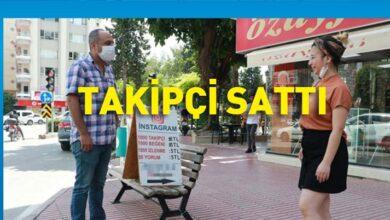 Photo of Tezgah açarak sokakta 'takipçi' satıyor