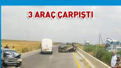 Photo of Turkeli kavşağında 3 araç çarpıştı