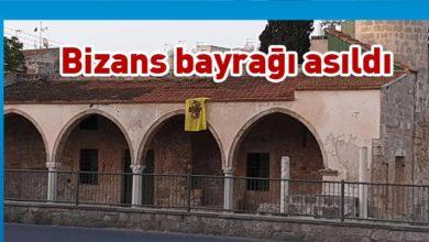 Photo of Tuzla Camisi'nin duvarına Bizans bayrağı astılar