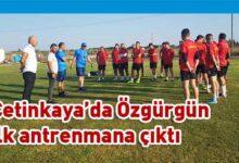 Photo of Mehmet Ali Özgürgün, Çetinkaya ile ilk antrenmanını yaptı