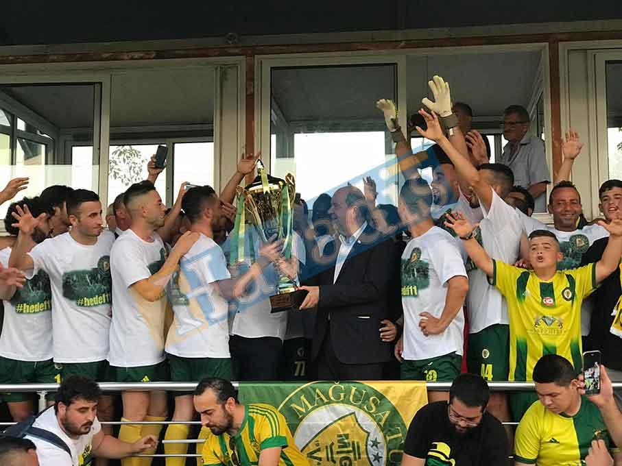 2019-2020 sezonu şampiyonu Mağusa Türk Gücü, Canbulat Sahası, Futbol Süper Lig, Mağusa, mağusa türk gücü, Şampiyon
