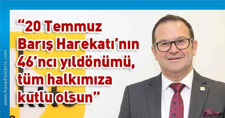 Kıbrıs Türk Ticaret Odası Başkanı Turgay Deniz, 20 Temmuz Barış Harekatı, Barış ve Özgürlük Bayramı, Kıbrıs Türk halkı