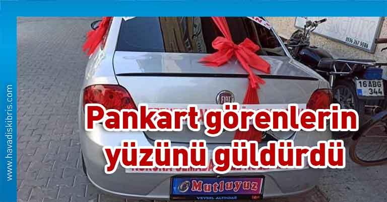 Bursa, Türkiye, İznik, Pankart, gelin arabası,