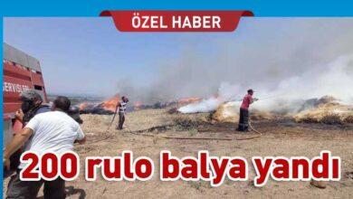 Photo of Doğancı'da balya yangını