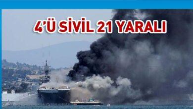Photo of ABD'de savaş gemisinde yangın