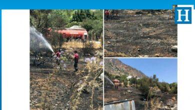 Photo of Ağırdağ'da yangın