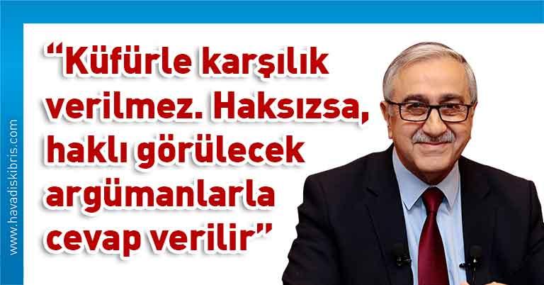 Cumhurbaşkanı Mustafa Akıncı, açıklama