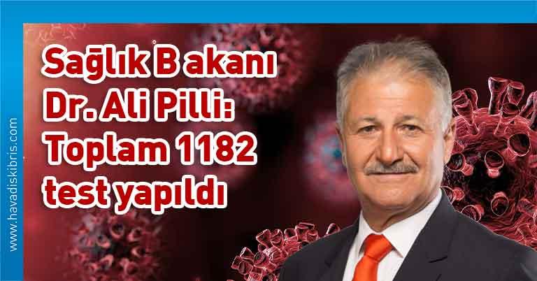 KKTC Sağlık Bakanı Dr. Ali Pilli, koronavirüs, korona virüs, coronavirus, corona virüs, COVID-19, test, vaka, pozitif, karantina, pandemi, vaka sayısı, test sayısı, PCR, yeni tip koronavirüs, salgın, negatif, KKTC, Kuzey Kıbrıs