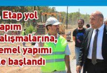 Photo of Bakan Atakan bugün başlayan Girne batı çevreyolu 1.etap çalışmalarında incelemelerde bulundu