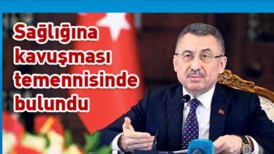 Photo of Fuat Oktay, Eroğlu'nu arayarak geçmiş olsun dileklerini iletti