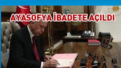 Photo of Cumhurbaşkanı Erdoğan'dan Ayasofya kararnamesi