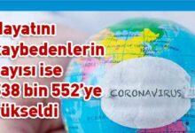 Photo of Dünya genelinde vaka sayısı 11 milyon 654 bin 557'ye yükseldi