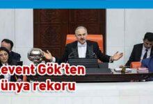 Photo of Eski Meclis Başkanvekili CHP'li Levent Gök rekor kırdı