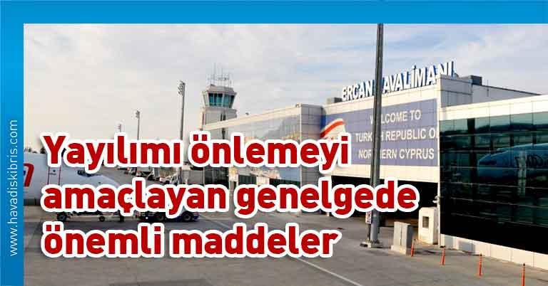 Bayındırlık ve Ulaştırma Bakanlığı, Ercan Havalimanı, pandemi tedbirleri