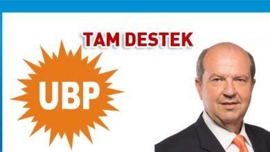 Photo of UBP'den Ersin Tatar'a tam destek
