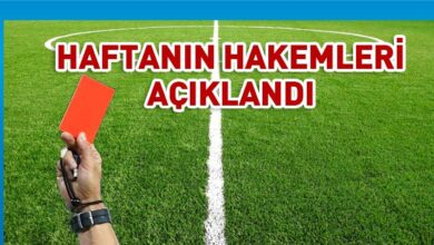 Photo of K-Pet Süper Lig'de 30. haftanın hakemleri açıklandı