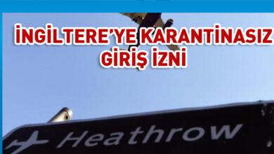 Photo of Kıbrıs yolcularına İngiltere 14 gün karantinayı kaldırdı