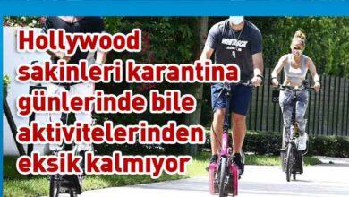 Photo of Jennifer Lopez fitness bisikletiyle form tutuyor