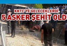 Photo of Mersin'den KKTC'ye gelen askerleri taşıyan otobüs devrildi
