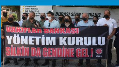 Photo of KTAMS Vakıflar Bankası yönetimini protesto etti