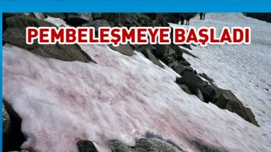 Photo of Alpler'de kar pembeleşmeye başladı