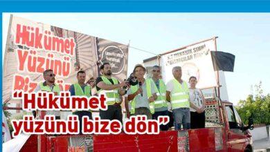 Photo of Esnaf, Zanaatkarlar ve sektör temsilcilerinin oluşturduğu Birleşik Eylem Komitesi, Girne'den başlattıkları yürüyüşü Başbakanlık önünde tamamladı