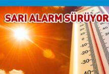 Photo of Sıcak hava için sarı alarm bugün de yürürlükte