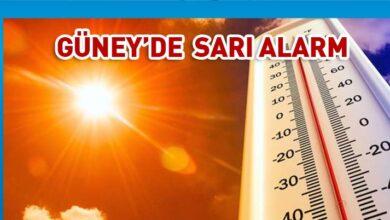 Photo of Güney'de sıcak hava için sarı alarm