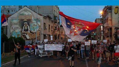 Photo of Sırbistan geneline yayılan protesto gösterileri 5. gününde