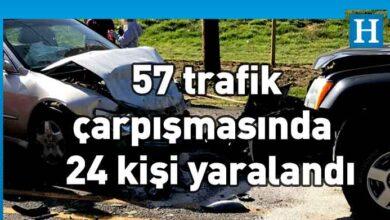Photo of Ülkemizde geçtiğimiz hafta 57 trafik çarpışması meydana geldi 24 kişi yaralandı
