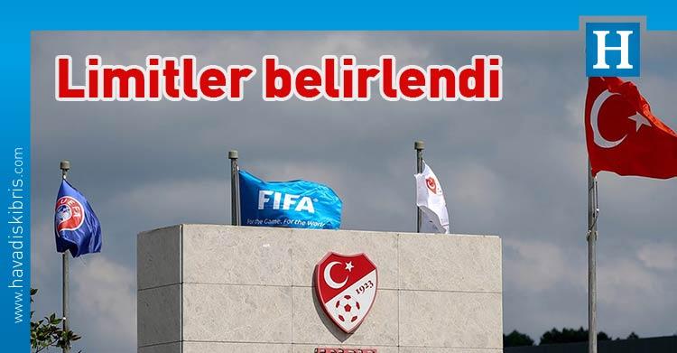 Türkiye, Türkiye Futbol Federasyonu, TFF, Kulüp Lisans ve Finansal Fair Play Talimatı, Süper Lig Takım Harcama Limitleri