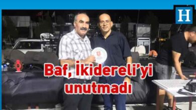Photo of Baf'tan İkidereli'ye plaket