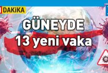 Photo of Güneyde 3486 test, 13 yeni vaka