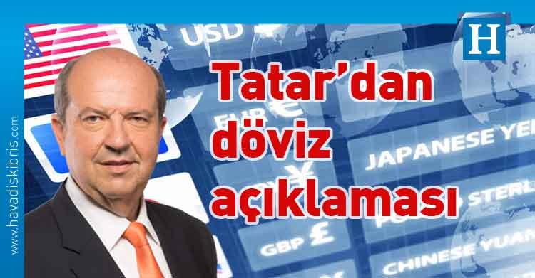 Başbakan Ersin Tatar, döviz, hükümet, Maliye ve Ekonomi,