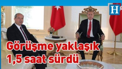 Photo of Erdoğan-Tatar görüşmesi sona erdi
