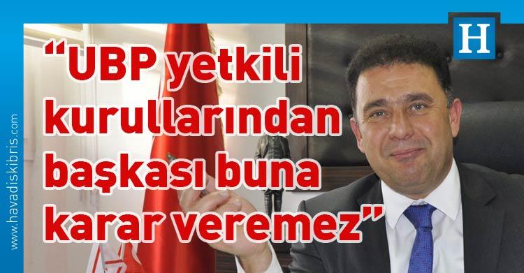 Ersan Saner, Ulusal Birlik Partisi (UBP) Genel Sekreteri Ersan Saner, Başbakan Ersin Tatar, Ankara, Kovid-19, UBP adayı, Sayın Akıncı TDP'nin, Sayın Erhürman CTP'nin, Sayın Özersay HP'nin, Sayın Denktaş DP'nin, Sayın Arıklı YDP, Sayın Ersin Tatar da UBP, cumhurbaşkanlığı, seçim, Başbakan Yardımcısı Özersay