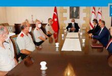 Photo of Akıncı, KTBK Komutanı Öztürk ile GKK Komutanı Topaloğlu'nu kabul etti