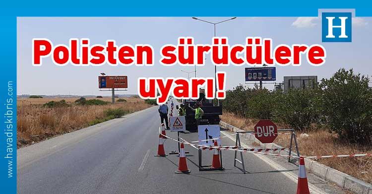 Girne-Lefkoşa yolu çalışma