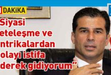 Photo of Özgürgün vekillikten istifa etti