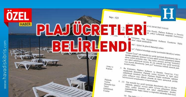 plaj hizmet ücretleri