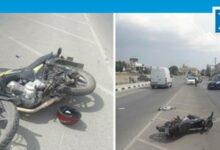 Photo of Motosiklet ile kamyonet çarpıştı: 1 yaralı