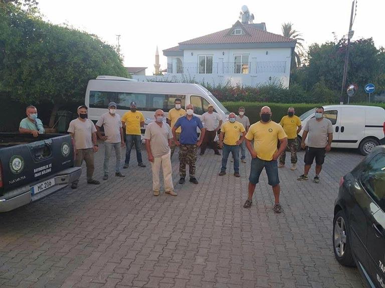 Çatalköy Belediyesi temizlik şubesi personeli